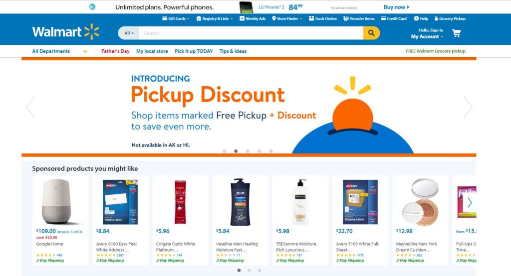Walmart-Online Shopping Website