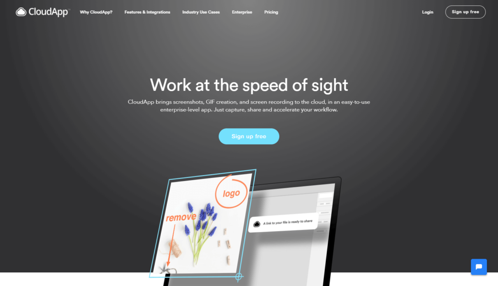 CloudApp is a visual communication tool designed for client support