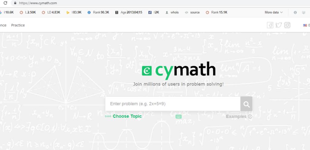 Cymath -The Useful Sites Everybody
