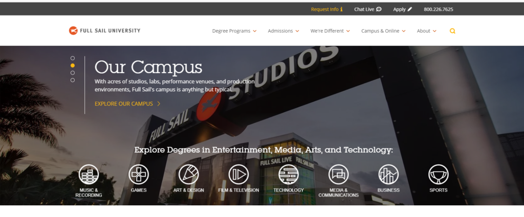 Full Sail University-marketing professionals-Online Marketing Florida