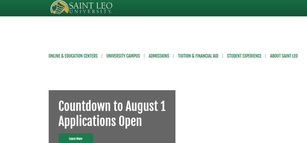 Saint Leo University is a Catholic college-marketing professionals-Online Marketing Florida
