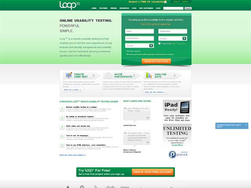 Loop11-testing apps  software-testing -website