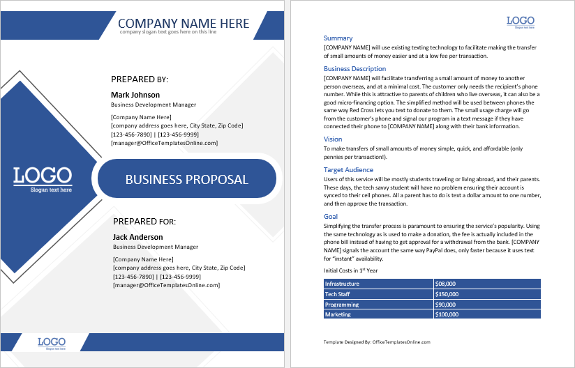 online marketing business-proposal-template