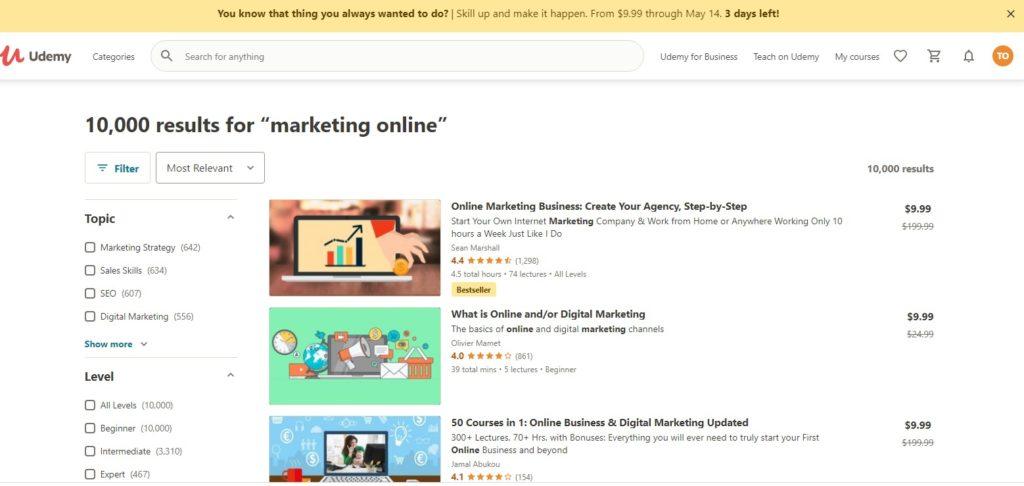 udemy online marketing
